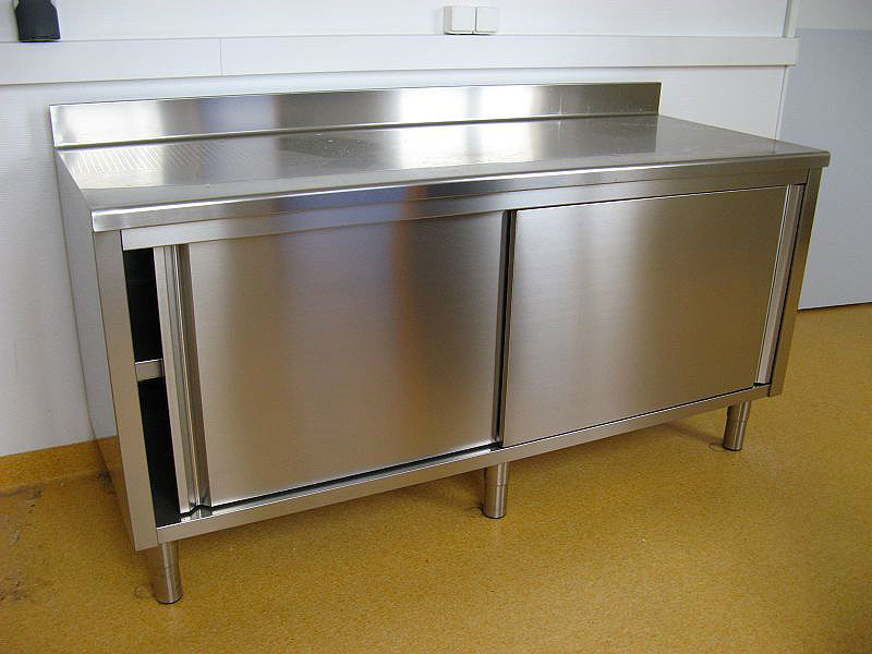 Armoire inox cuisine occasion table de lit for Table de cuisine inox